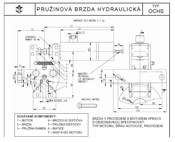 Pivko Prumyslove Spojky Brzdy Hridele Brzda Hydraulicka
